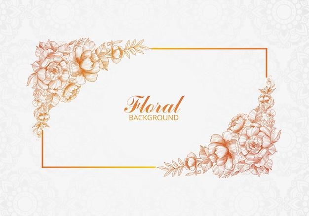Mooie decoratieve bruiloft bloemen kaart