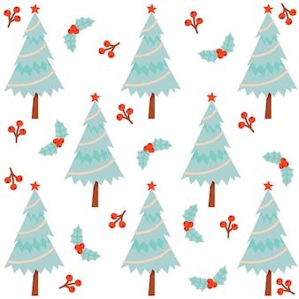 Mooie decoratieve kerstboompatronen