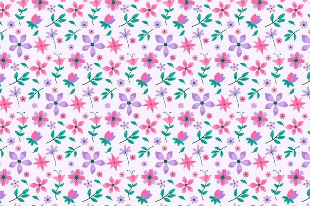 Mooie ditsy bloemenachtergrond