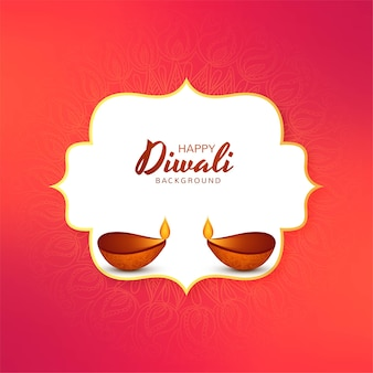 Mooie diwali festival vakantiekaart achtergrond