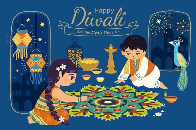 Mooie diwali-illustratie