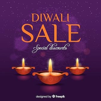 Mooie diwali verkoop in plat design