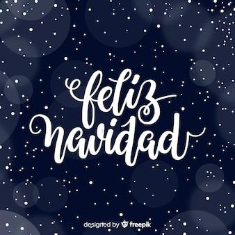 Mooie donkere kerstmis van letters voorziende achtergrond