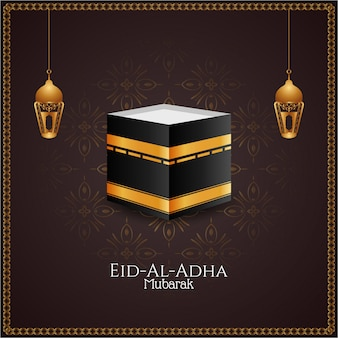 Mooie eid-al-adha mubarak artistieke achtergrond