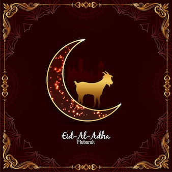 Mooie eid al adha mubarak heilige festivalillustratie