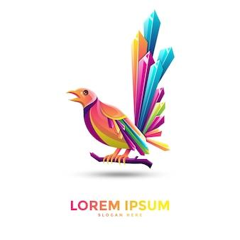 Mooie ekster logo sjabloonontwerp