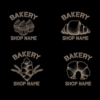 Mooie elegante bakkerij brood logo bewerkbare sjabloon