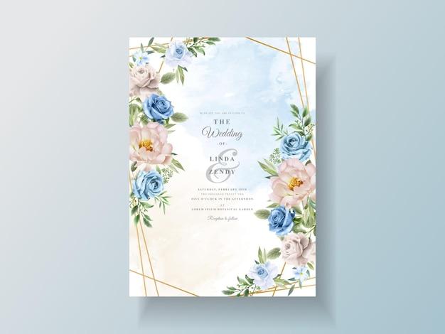Mooie en elegante bloemen bruiloft uitnodigingskaarten