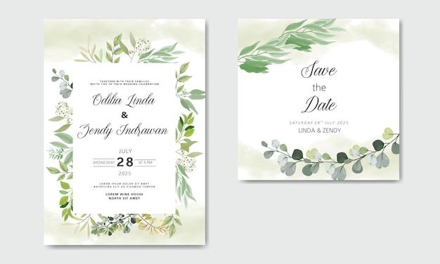 Mooie en elegante bloemenhuwelijksuitnodiging