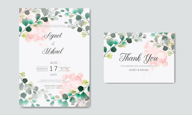 Mooie en elegante bloemenhuwelijksuitnodigingskaarten