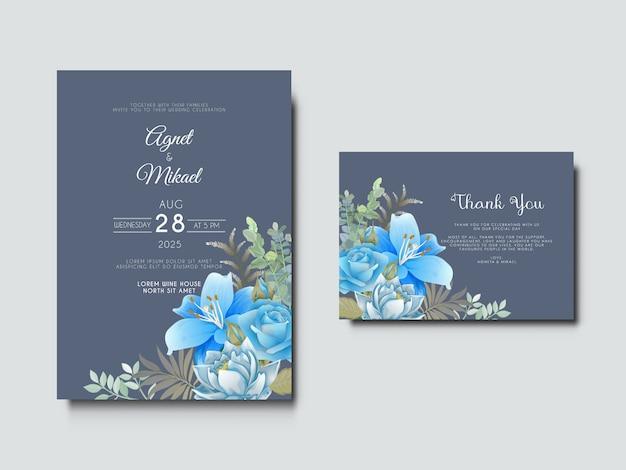 Mooie en elegante bruiloft uitnodigingskaart