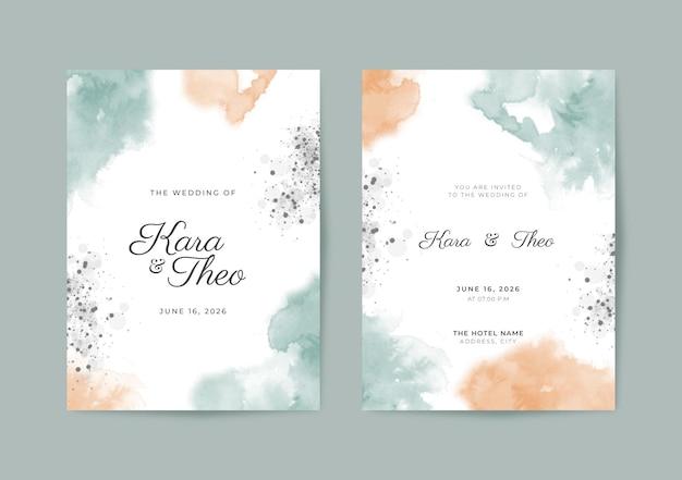 Mooie en elegante sjabloon voor huwelijksuitnodigingen