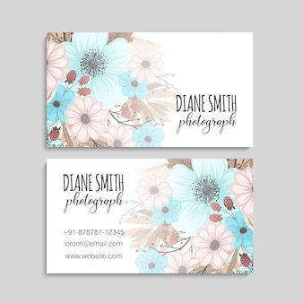 Mooie floral design bussiness kaart. vector illustratie