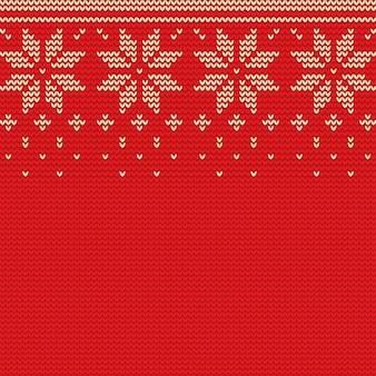 Mooie gebreide kerst achtergrond