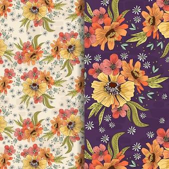 Mooie gele tuin patroon ontwerp
