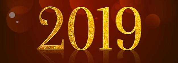 Mooie gelukkig nieuwjaar 2019 tekst festival banner