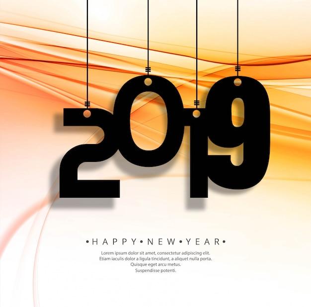 Mooie gelukkig nieuwjaar 2019 tekstachtergrond