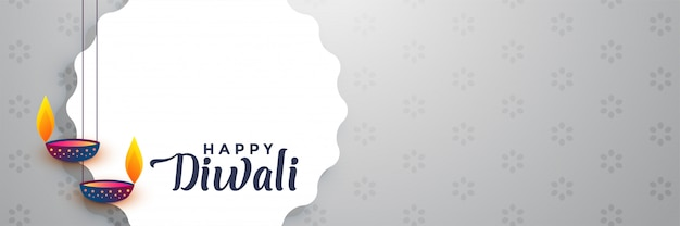 Mooie gelukkige diwali banner met tekst ruimte
