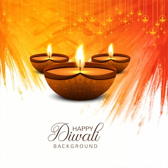 Mooie gelukkige diwali decoratieve vieringsachtergrond