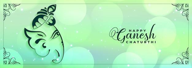 Mooie gelukkige ganesh chaturthi festival banner