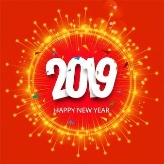 Mooie gelukkige nieuwe jaar 2019 tekst festival achtergrond