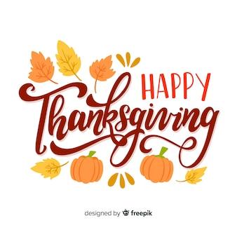 Mooie gelukkige thanksgiving belettering