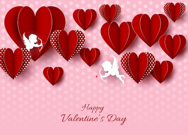 Mooie gelukkige valentijnsdag achtergrond