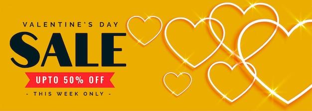 Mooie gelukkige valentijnsdag verkoop en aanbieding banner