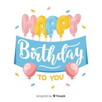 Mooie gelukkige verjaardag belettering