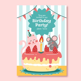 Mooie gelukkige verjaardagsuitnodiging