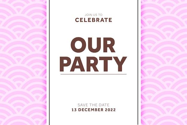 Mooie geometrische patroon bruiloft uitnodiging sjabloon kan worden gebruikt om kaart te maken
