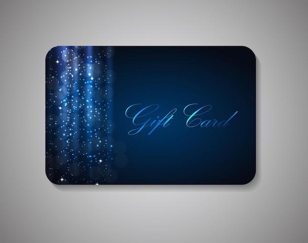 Mooie gift card op grijze achtergrond. vectorillustratie eps10.