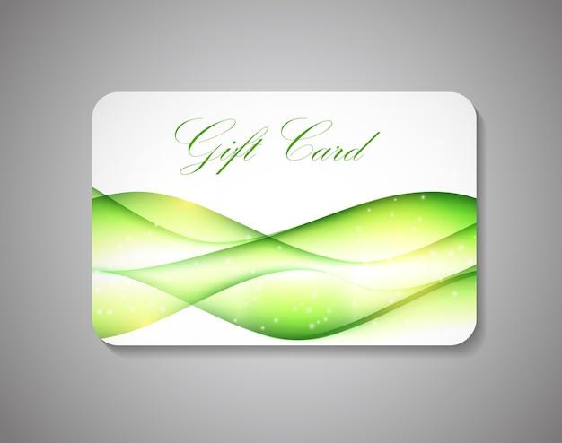 Mooie gift card op grijze achtergrond. vectorillustratie