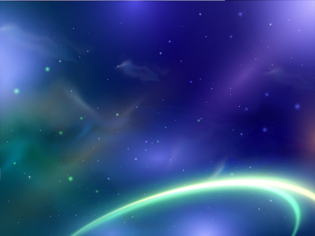 Mooie glanzende abstracte achtergrond met neonlichteffect spiraalvormige golf.