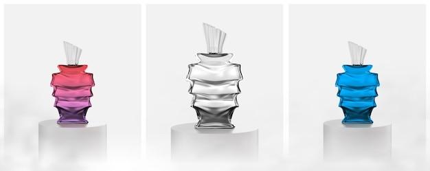 Mooie glazen parfumfles Premium Vector
