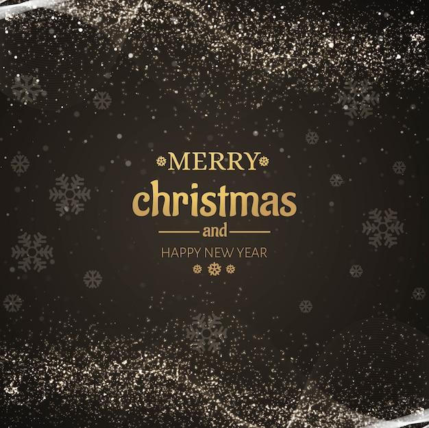 Mooie glitters vrolijk kerstkaartontwerp