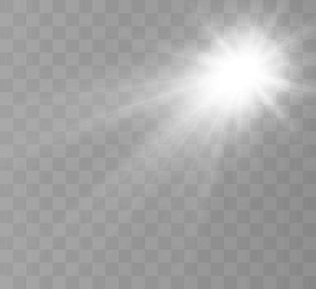 Mooie gloed vallend licht voor vectorillustratie