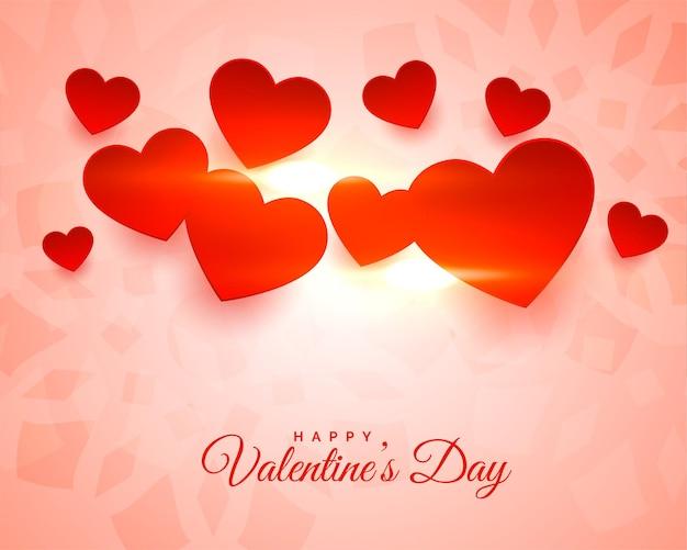 Mooie gloeiende gelukkige valentijnsdag achtergrond
