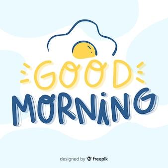 Mooie goedemorgen belettering achtergrond