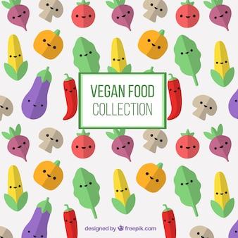 Mooie groenten tekens achtergrond in plat design