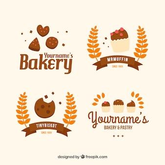 Mooie hand geschilderde bakkerij logo