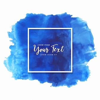 mooie hand getekend blauwe aquarel splash achtergrond