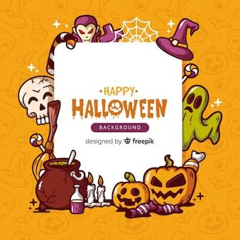 Mooie hand getekend halloween achtergrond