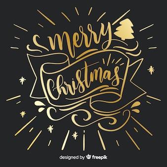 Mooie hand getekend kerst belettering