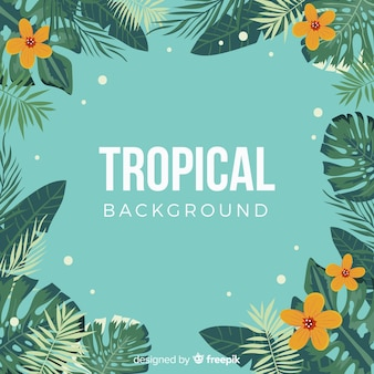 Mooie hand getekend tropische achtergrond