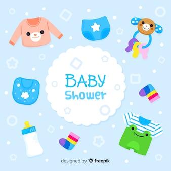 Mooie hand getrokken babydouche samenstelling