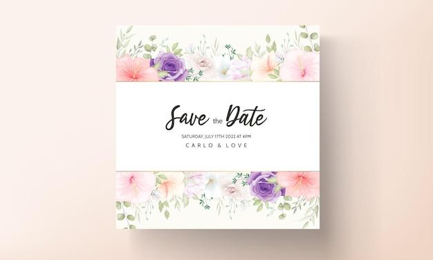 Mooie hand getrokken bruiloft uitnodiging kaart ontwerpset