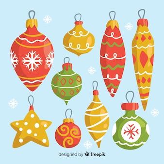 Mooie hand getrokken globes kerstdecoratie