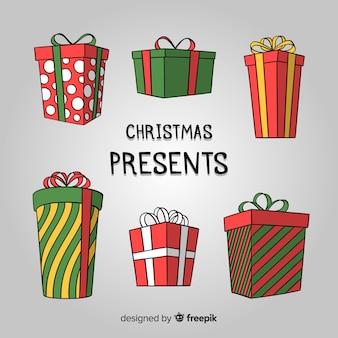 Mooie hand getrokken kerstcadeau collectie