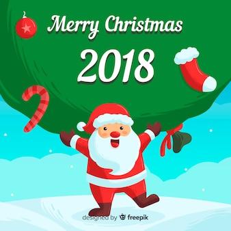 Mooie hand getrokken kerstmis achtergrond